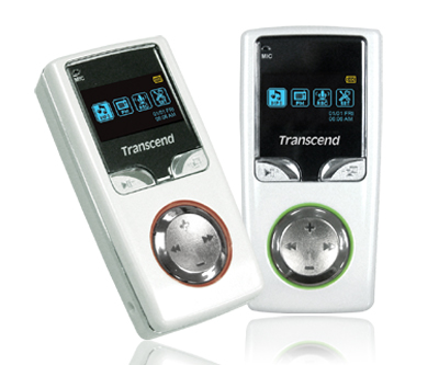 Transcend's New Pearl-White Compact MP3 Player - T sonic 615