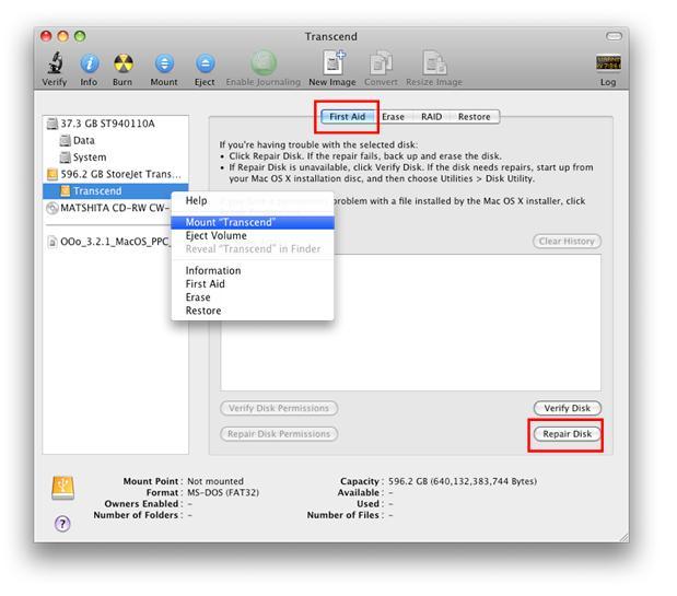 how to run disk repairs mac